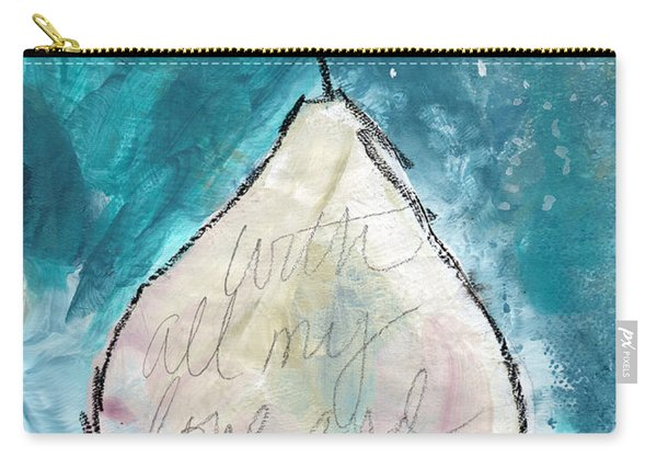 Love And Hope Pear- Art By Linda Woods Carry-all Pouch
