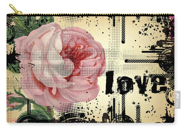 Love Grunge Rose Carry-all Pouch