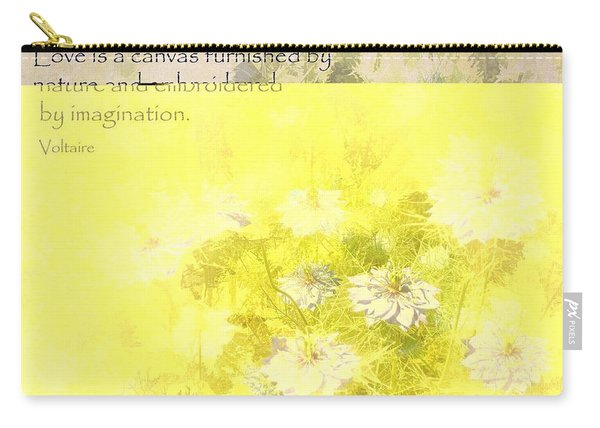 Love Is A Canvas - Nigella Damascena Carry-all Pouch