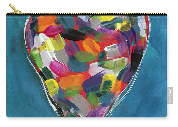 Love Is Colorful In Blue- Art By Linda Woods Carry-all Pouch