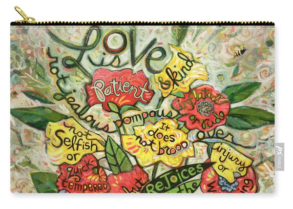 Love Is Patient Carry-all Pouch