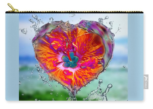 Love Makes A Splash Carry-all Pouch