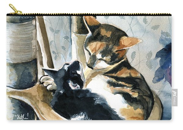 Love Me Tender - Cat Painting Carry-all Pouch