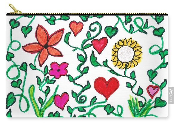 Love On The Vine Carry-all Pouch