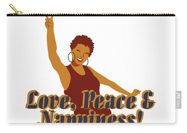Love Peace And Nappiness Carry-all Pouch