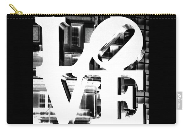 Love Philadelphia White  Carry-all Pouch