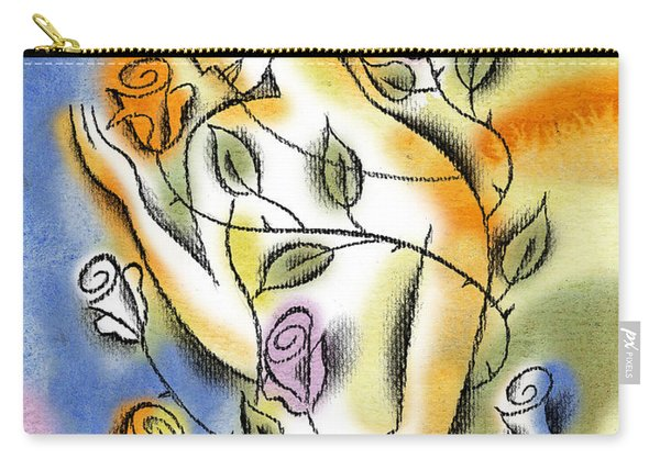 Love, Roses And Thorns Carry-all Pouch