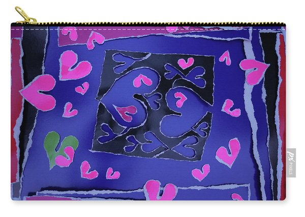 Love Soul Love Skeloton And The Subject Of Life Carry-all Pouch