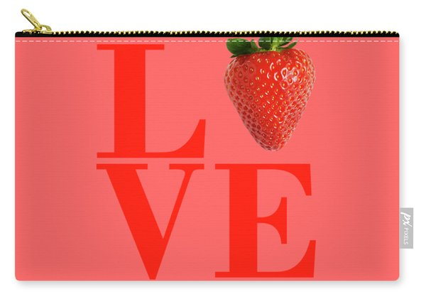 Love Strawberry Carry-all Pouch