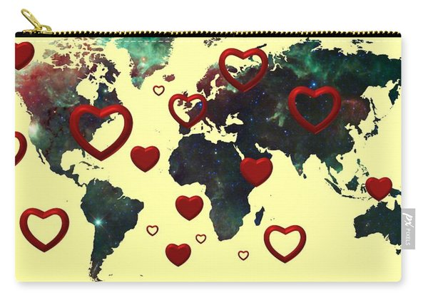 Love World Map 2 Carry-all Pouch