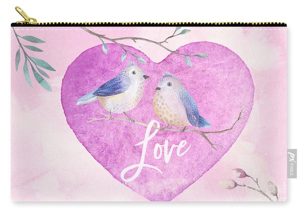 Lovebirds For Valentine's Day, Or Any Day Carry-all Pouch