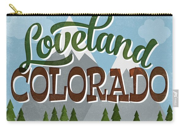 Loveland Colorado Snowy Mountains Carry-all Pouch