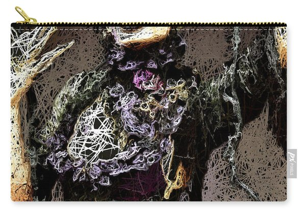 Carry-all Pouch featuring the mixed media Lovely Agony by Al Matra