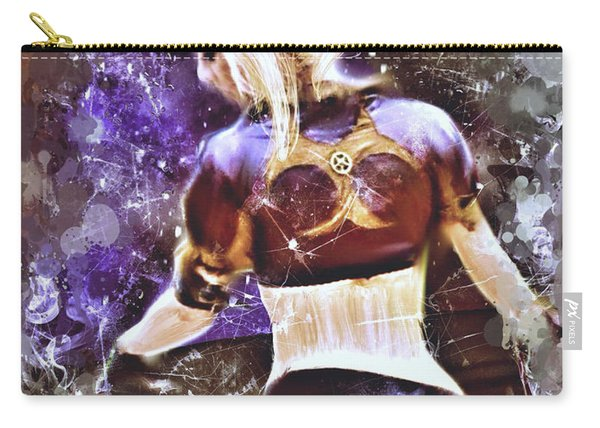 Carry-all Pouch featuring the mixed media Lovely Night by Al Matra