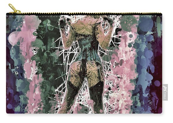 Carry-all Pouch featuring the mixed media Lovely Silhouette by Al Matra