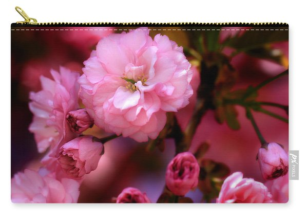 Lovely Spring Pink Cherry Blossoms Carry-all Pouch