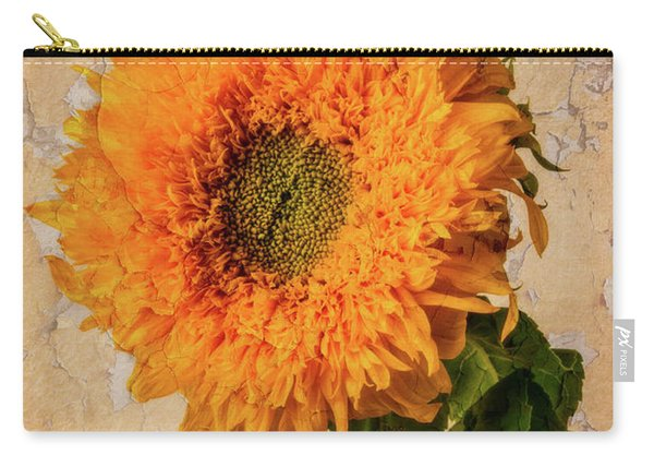 Lovely Textured Sunflower Carry-all Pouch