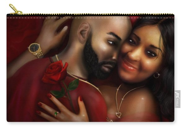 Lovers Portrait Carry-all Pouch