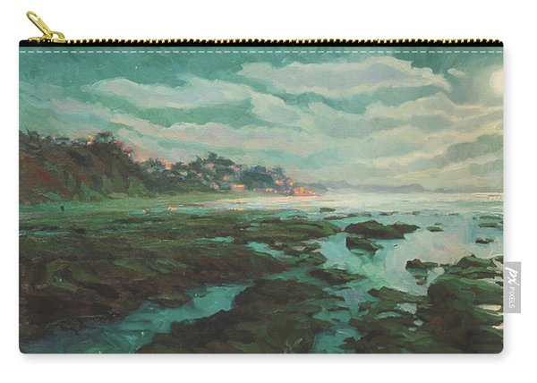 Low Tide At Moonlight Carry-all Pouch