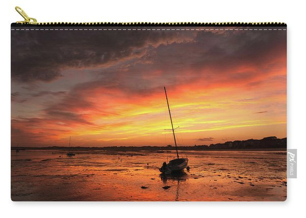 Low Tide Sunset Sailboats Carry-all Pouch