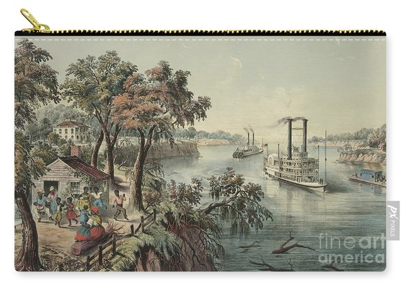 Low Water In The Mississippi, 1868  Carry-all Pouch