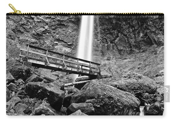 Lower Angle Of Elowah Falls In The Columbia River Gorge Carry-all Pouch