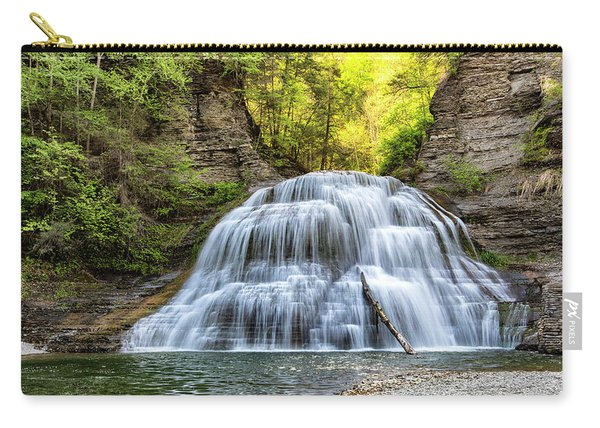 Lower Falls At Treman State Park Carry-all Pouch
