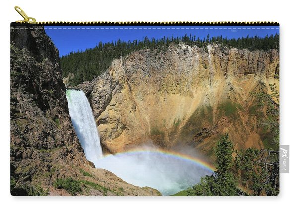 Lower Falls With A Rainbow Carry-all Pouch