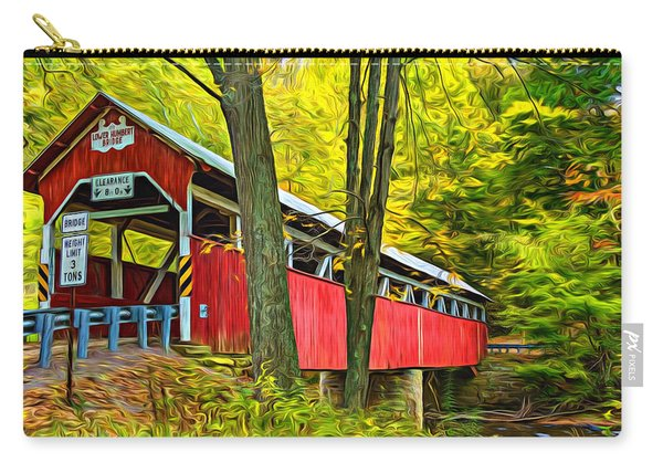 Lower Humbert Covered Bridge - Paint Carry-all Pouch