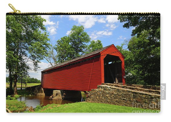 Loys Station Covered Bridge Frederick County Maryland Carry-all Pouch