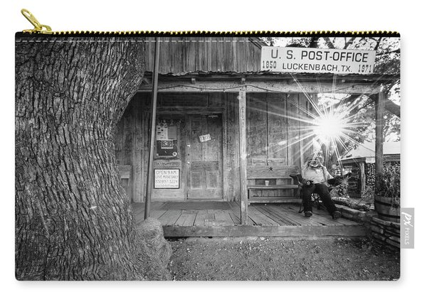Luckenbach, Texas, Post Office In Black And White Carry-all Pouch