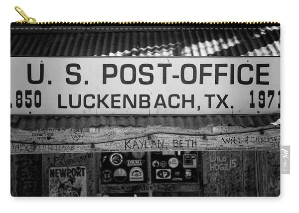 Luckenbach Tx Post Office Sign Carry-all Pouch
