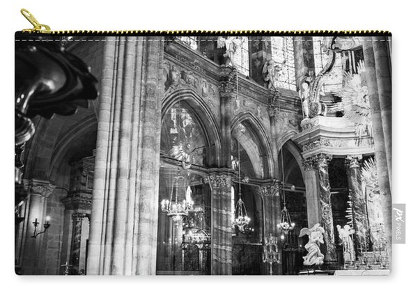 Lugo Cathedral Altar Bw Carry-all Pouch