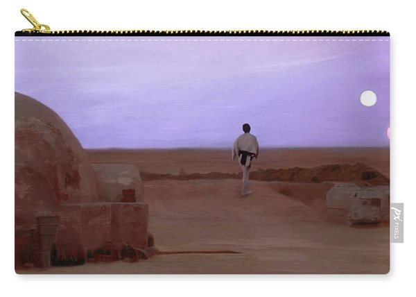 Luke Skywalker Tatooine Sunset Carry-all Pouch