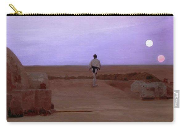 Luke Skywalker Tatooine Sunset Carry-all Pouch