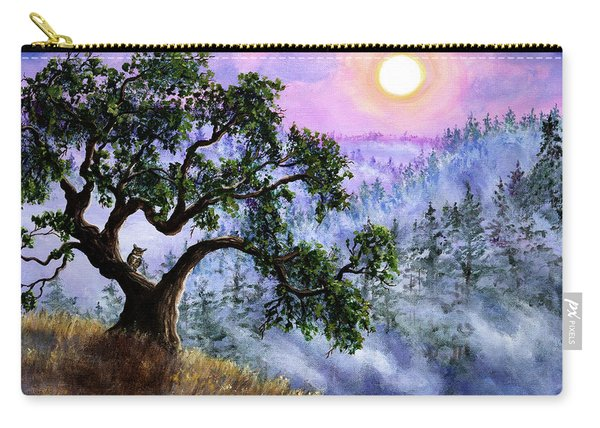 Luna In Mist And Fog Carry-all Pouch