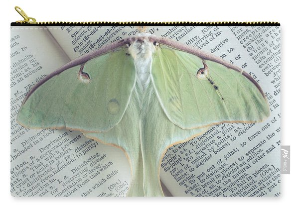 Luna Moth On Book Carry-all Pouch
