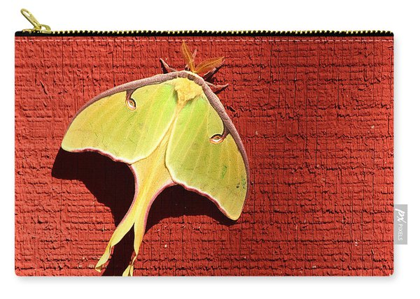 Luna Moth On Red Barn Carry-all Pouch