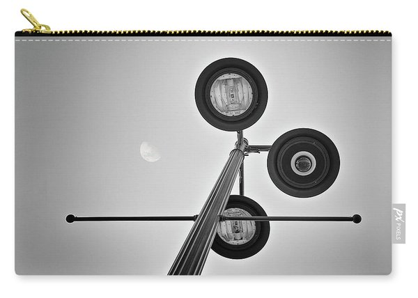 Lunar Lamp In Black And White Carry-all Pouch