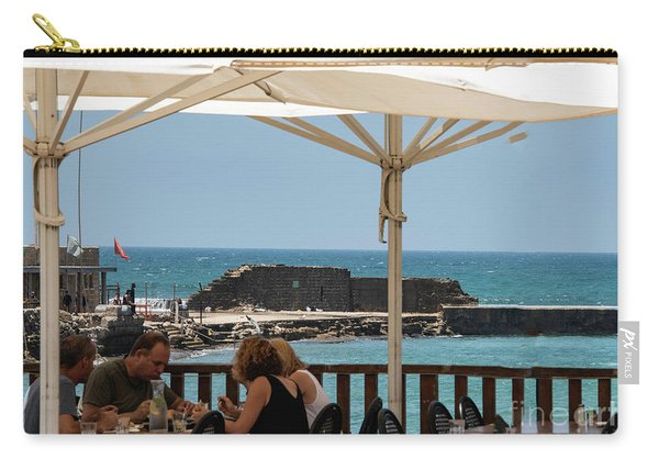 Carry-all Pouch featuring the photograph Lunch At The Mediterranean by Mae Wertz