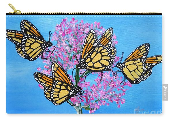 Butterfly Feeding Frenzy Carry-all Pouch