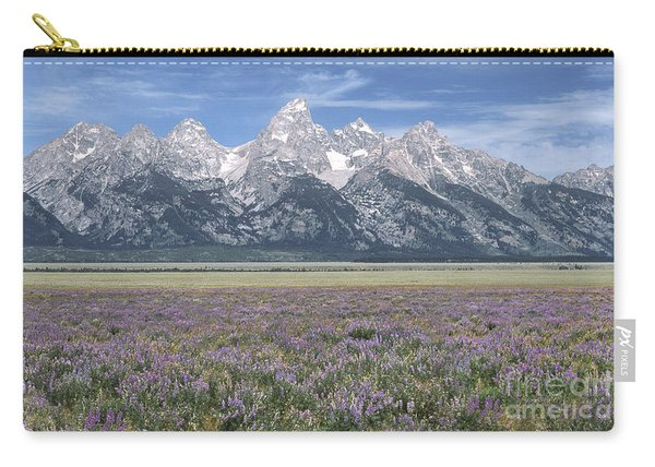 Lupine And Grand Tetons Carry-all Pouch
