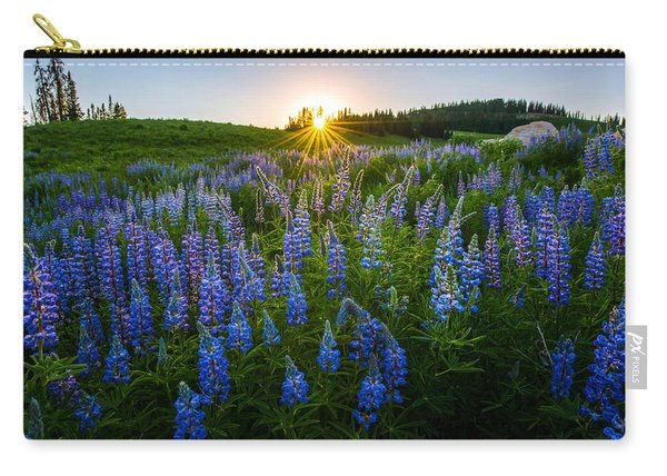 Carry-all Pouch featuring the photograph Lupine Meadow by Dustin  LeFevre