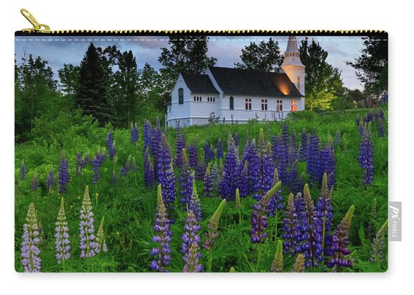 Lupines By The Church Carry-all Pouch