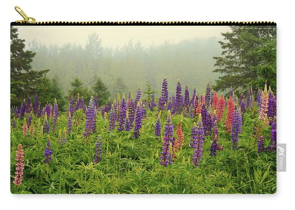 Lupins In The Mist Carry-all Pouch