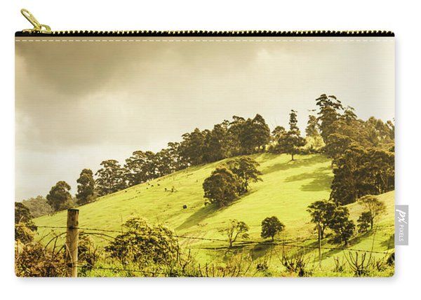 Lush Green Country Farmland Carry-all Pouch