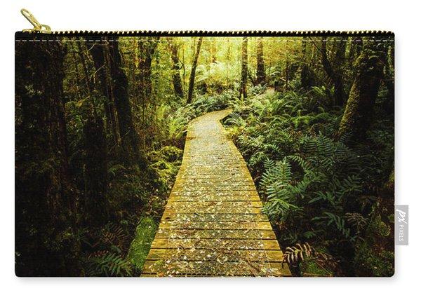 Lush Green Rainforest Walk Carry-all Pouch