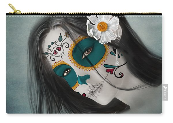 Lux Inmortal Day Of The Dead Sugar Skull  Carry-all Pouch