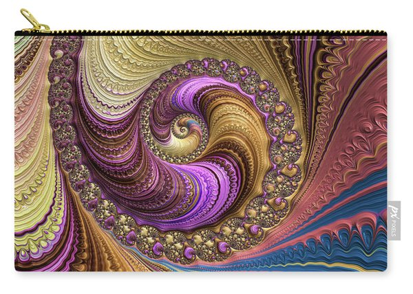 Luxe Colorful Fractal Spiral Carry-all Pouch