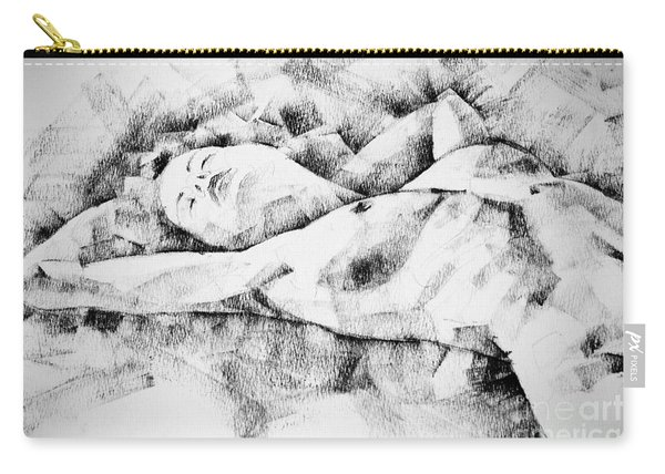 Lying Woman Figure Drawing Carry-all Pouch